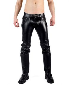 Mister B Leather Convertible Jeans - now at misterb.com