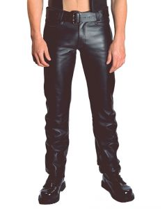 Mister B Leather Jeans Zip - now at misterb.com