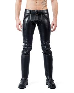 Mister B Leather FXXXer Jeans All Black - now at misterb.com