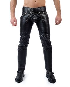 Mister B Leather Padded Sailor Jeans - now at misterb.com