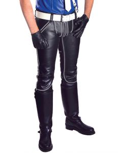 Mister B Leather FXXXer Jeans Black-Grey - now at misterb.com