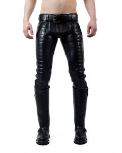 Mister B Leather Indicator Jeans Black Stitching-Piping - now at misterb.com