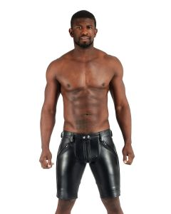 Mister B Leather FXXXer Shorts - Black - now at misterb.com
