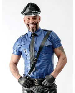 Mister B Sheep Leather Police Shirt Blue - now at misterb.com