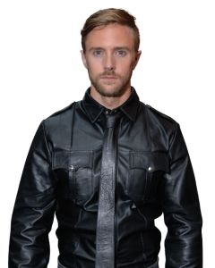 Mister B Leather Police Shirt Long Sleeves - now at misterb.com
