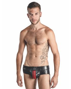 Mister B Leather Powerjock Red Striped - now at misterb.com