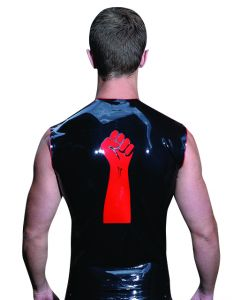 Mister B Rubber Sleeveless FIST T Red Trimming - buy online at www.misterb.com