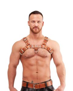 Mister B Leather Chest Harness Saddle Leather Brown - buy online at www.misterb.com