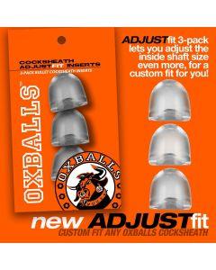 Oxballs ADJUSTFIT INSERT 3pack - Clear