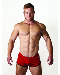 Mister B URBAN Ibiza Shorts Red Black - now at misterb.com