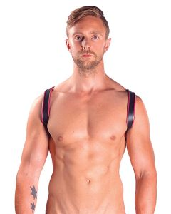 Mister B Leather Sling Harness Premium Red - now at misterb.com