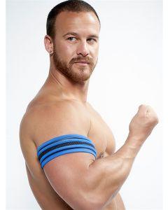 Mister B Neoprene Biceps Band Black Blue - buy online at www.misterb.com