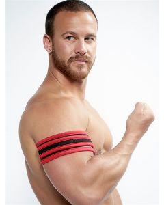 Mister B Neoprene Biceps Band Black Red - buy online at www.misterb.com