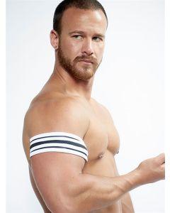 Mister B Neoprene Biceps Band Black White - buy online at www.misterb.com