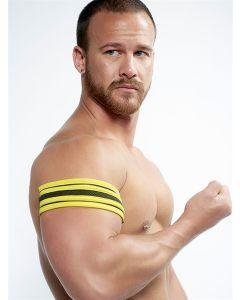 Mister B Neoprene Biceps Band Black Yellow - buy online at www.misterb.com