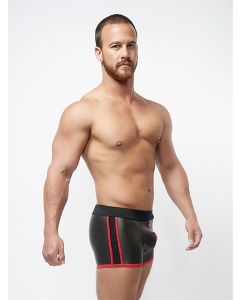 Mister B Neoprene Pouch Shorts Black Red - buy online at www.misterb.com
