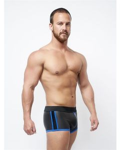 Mister B Neoprene Shorts 3 Way Full Zip Black Blue - buy online at www.misterb.com