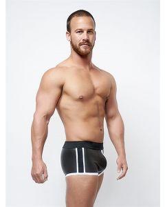 Mister B Neoprene Shorts 3 Way Full Zip Black White - buy online at www.misterb.com