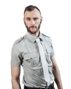 Mister B Sheep Leather Police Shirt Grey - now at misterb.com