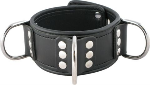 Mister B Leather Lockable Collar Broad S