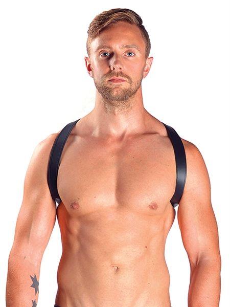 Mister B Leather Sling Harness Black