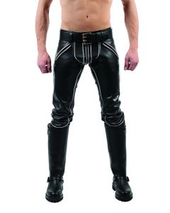 Mister B Leather FXXXer Jeans Black-White