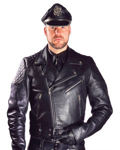 Mister B Leather Jacket With Belt