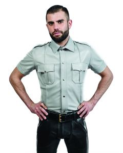 Mister B Sheep Leather Police Shirt Grey