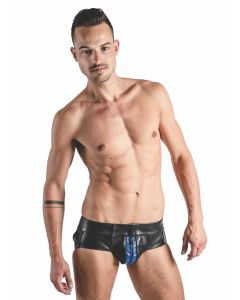 Mister B Leather Powerjock Blue Striped