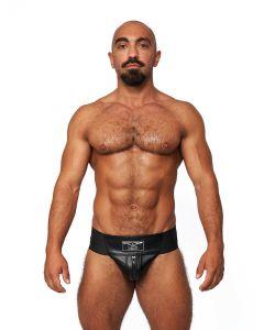Mister B Leather Premium Jockstrap - Black