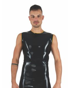 Mister B Rubber Sleeveless T-Shirt Black Yellow