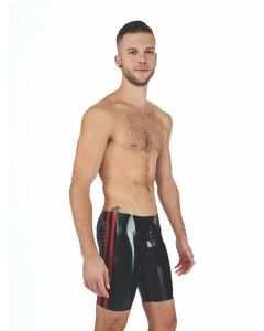 Mister B Rubber Fucker Shorts Black Red
