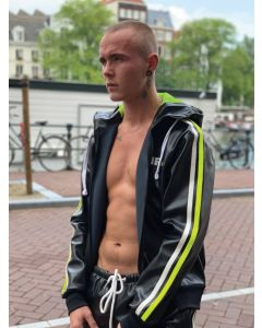 Mr Riegillio MR Tracksuit Jacket - Black - Neon Stripe