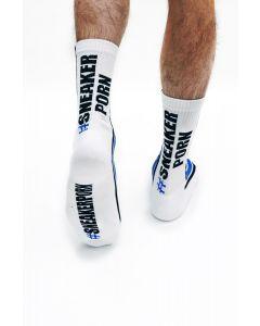 #Sneakerporn Socks White-Blue