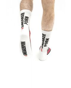 #Sneakerporn Socks White-Red