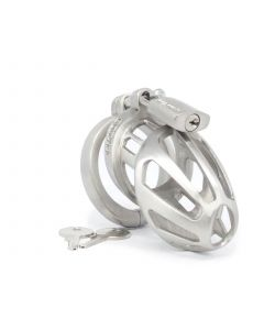 BON4M Stainless Steel Chastity Cage - Sml-Med