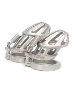 BON4Mplus Stainless Steel Chastity Cages - Sml+Lrg