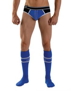 Mister B URBAN Football Socks with Pocket Blue