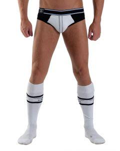 Mister B URBAN Football Socks with Pocket White