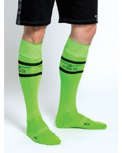 Mister B URBAN Football Socks with Pocket Neon Green