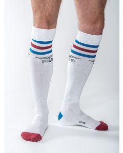Mister B URBAN Gym Socks with Pocket White