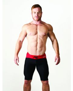 Mister B URBAN Mallorca Cycle Shorts Black Red