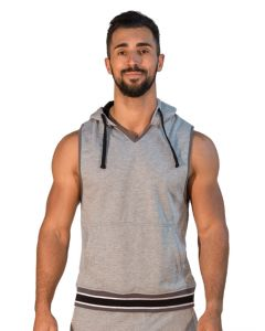 Mister B URBAN San Jose Sleeveless Hoodie Grey