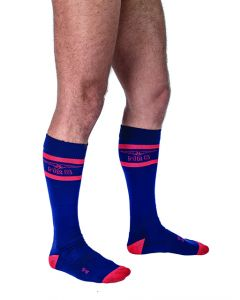 Mister B Urban Football Socks Navy Red