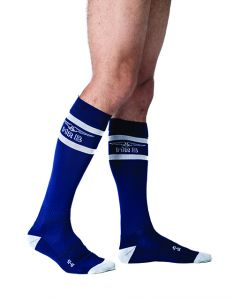 Mister B Urban Football Socks Navy White