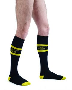 Mister B Code Yellow Football Socks