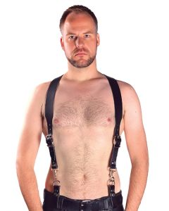 Mister B Leather Combi Harness Braces Basic