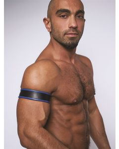 Mister-B-Leather-Biceps-Band-Black-Blue