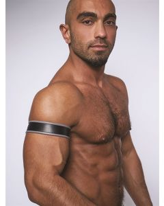 Mister-B-Leather-Biceps-Band-Black-Grey