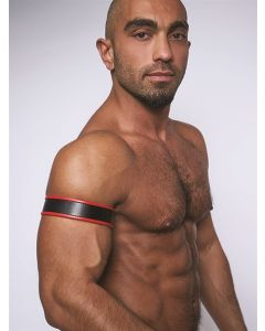 Mister-B-Leather-Biceps-Band-Black-Red